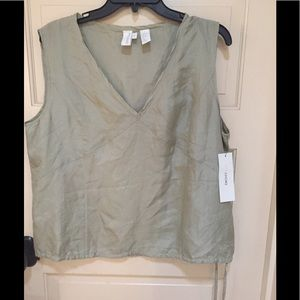 DKNY pure silk top blouse FERN Color NWT size 14